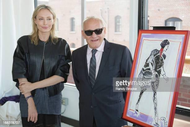Fashion designers Lubov Azria and Max Azria attend a luncheon honoring Max  and Lubov Azria hosted 762bd261e