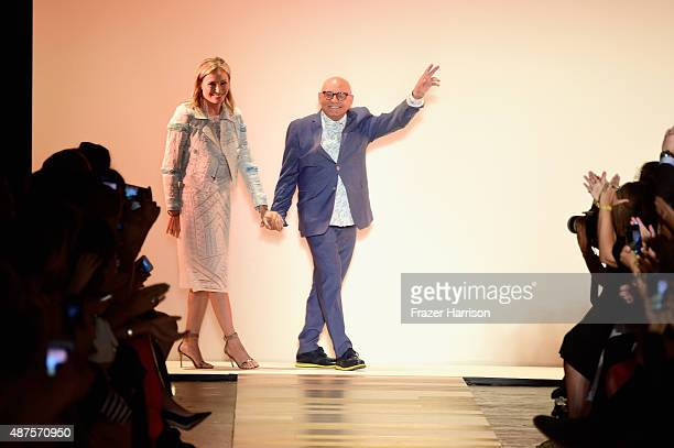 Fashion designers Lubov Azria and Max Azria walk the runway at the BCBGMAXAZRIA fashion show during Spring 2016 New York Fashion Week The Shows at...