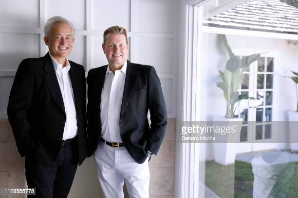 Fashion designers Mark Badgley and James Mischka are photographed for Los Angeles Times on January 4 2019 in Beverly Hills California PUBLISHED IMAGE...