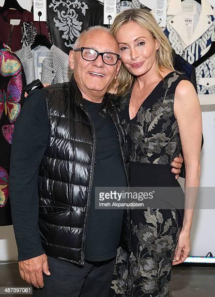 Fashion designers Max Azria and Lubov Azria attend the BCBGMAXAZRIA 'Living the Bon Chic Life' 25th Anniversary Retrospective Celebration at BCBG Max...