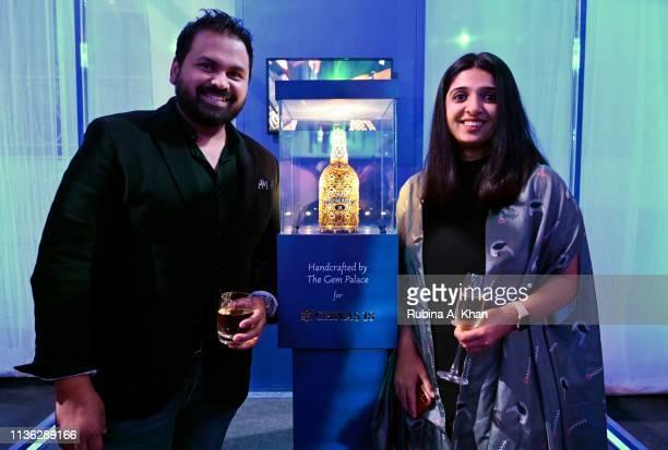 Fashion designers Paras Modi and Sonam Modi attend the third edition of Chivas 18 Alchemy 2019 on March 16 2019 in New Delhi India