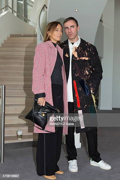 Fashion Designers Prize 2015 at the Foundation Louis Vuitton, Phebe Phili and Raf Simons in may 22, 2015 in Paris, France.