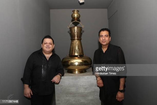 Fashion designers Rohit Gandhi and Rahul Khanna during an exhibition Titled Burnish/Tarnish the exhibition explored the gamut of commonly used...