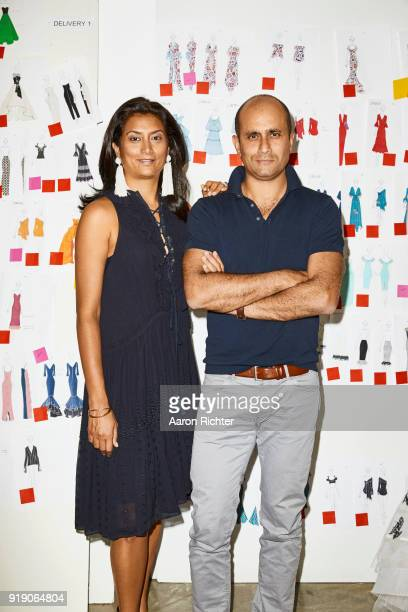Fashion designers Sachin Ahluwalia and Babi Ahluwalia of Sachin Babi are photographed for Rhapsody Magazine on July 20 2017 in their office in New...