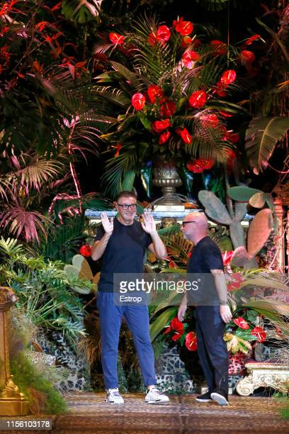 Fashion designers Stefano Dolce Domenico Gabbana at the Dolce Gabbana fashion show at Teatro Metropol during the Milan Men's Fashion Week...