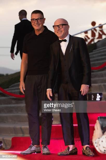 Fashion designers Stefano Gabbana and Domenico Dolce attend the Dolce Gabbana Alta Moda and Alta Sartoria collections fashion show at Soumaya Museum...
