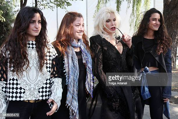 Fashion designers Vanessa Sason Raisa Sason and actress Ajda Pekkan attend MercedesBenz Fashion Week Istanbul s/s 2014 presented by American Express...