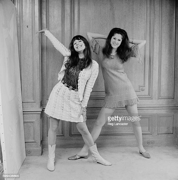Fashion designers Vicky Tiel and Mia Fonssagrives 6th November 1967 They became partners in the MiaVicky couture house in 1968