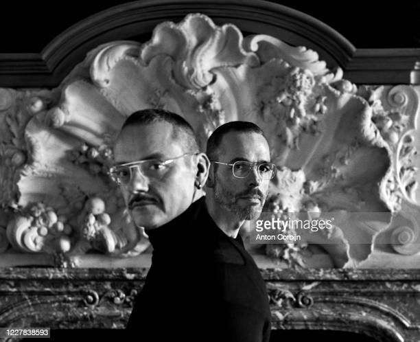 Fashion designers Viktor Horsting and Rolf Snoeren pose for a portrait on February 14, 2018 in Amsterdam, .