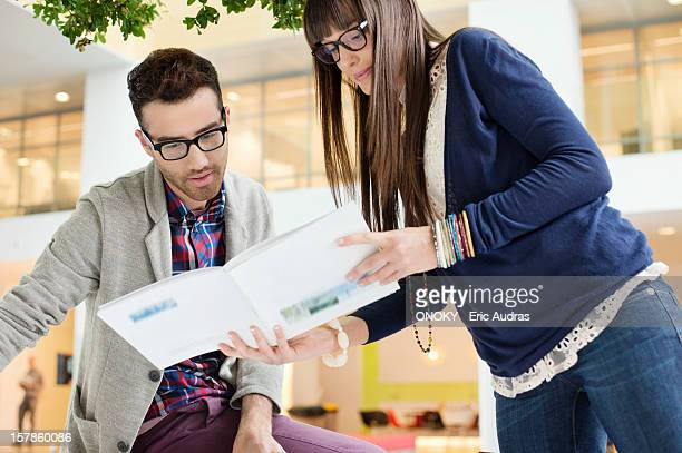 Fashion designers working in an office