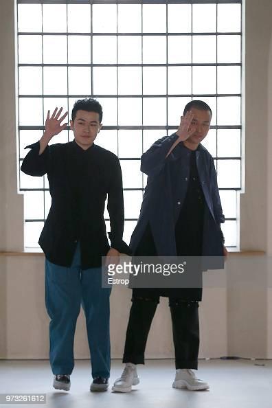 Fashion Designers Yushan Li Jun Zhou At The Pronounce Show During News Photo Getty Images