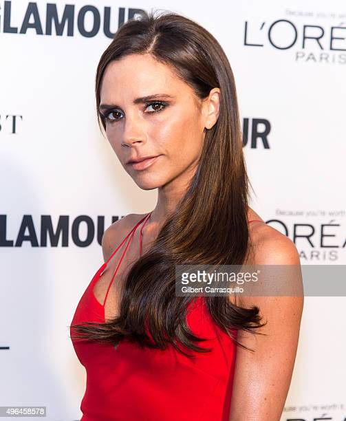 Fashion designer/singer Victoria Beckham attends Glamour's 25th Anniversary Women Of The Year Awards at Carnegie Hall on November 9 2015 in New York...