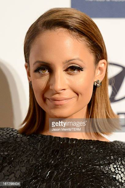 Fashion designer/TV personality Nicole Richie arrives at Clive Davis The Recording Academy's 2013 PreGRAMMY Gala and Salute to Industry Icons...