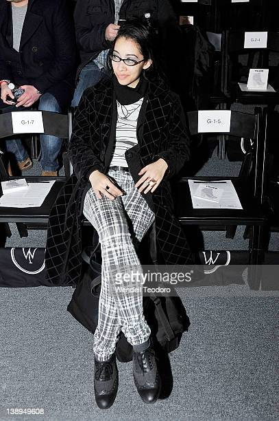 Fashion Desinger and Musician Arielle attends the Timo Weiland Fall 2012 fashion show during MercedesBenz Fashion Week at the The Studio at Lincoln...