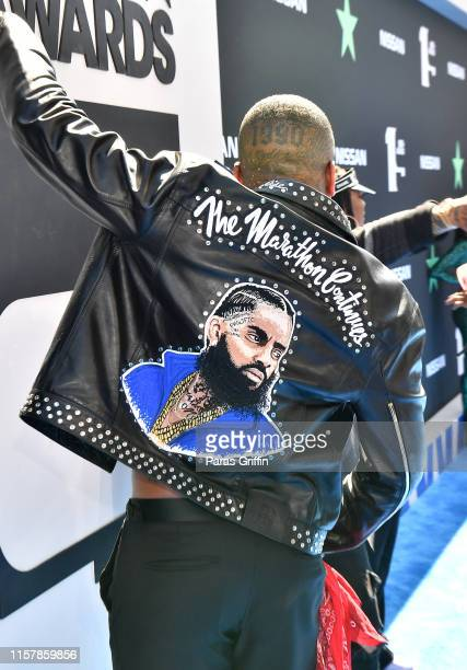 YG fashion detail attends the 2019 BET Awards at Microsoft Theater on June 23 2019 in Los Angeles California