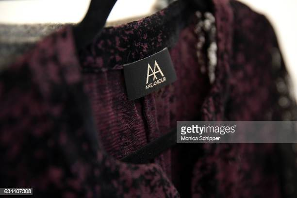 Fashion detail backstage at the Ane Amour fashion show during New York Fashion Week at Pier 59 on February 9 2017 in New York City