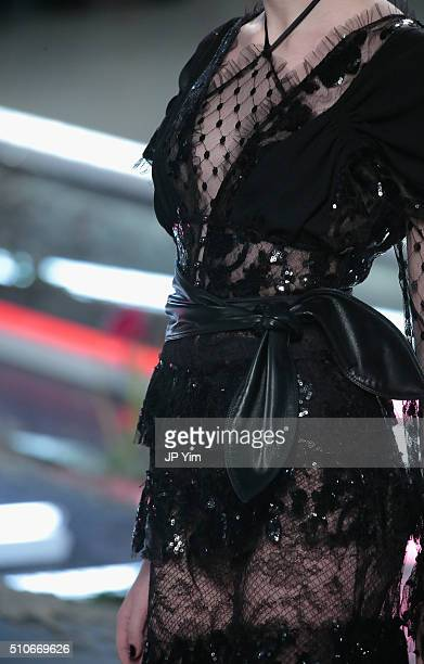 A fashion detail during Rodarte Fall 2016 during New York Fashion Week on February 16 2016 in New York City