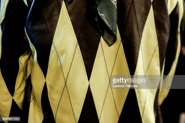 Fashion detail is displayed prior the Backstage prior the Kenzo Menswear Fall/Winter 20172018 show as part of Paris Fashion Week on January 22 2017...