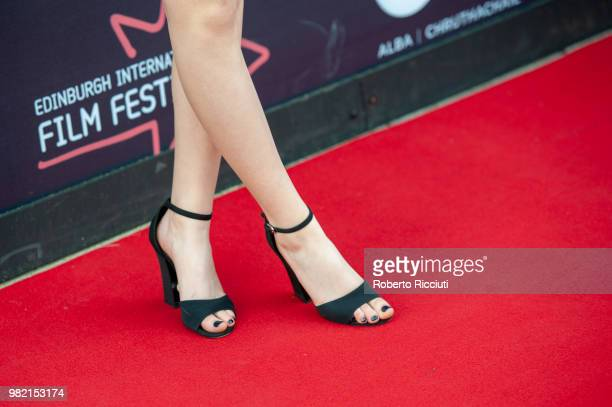 A fashion detail of actress Emilia Jones while she attends a photocall for the World Premiere of 'Two for joy' during the 72nd Edinburgh...