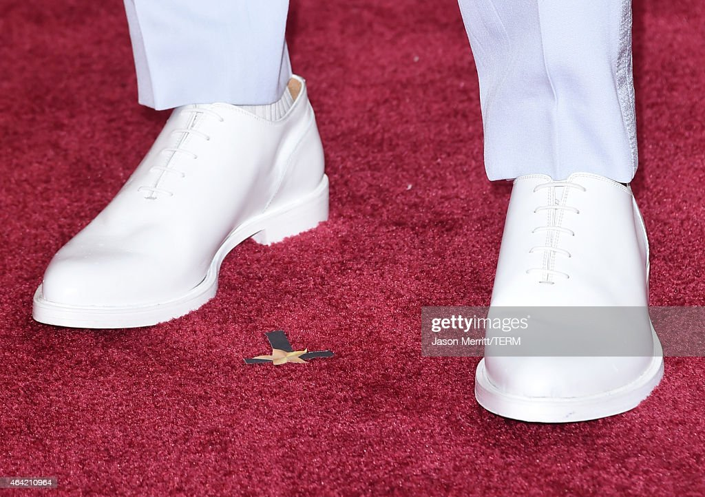 Fashion detail of Jared Leto at the 87th Annual Academy Awards at Hollywood & Highland Center on February 22, 2015 in Hollywood, California.