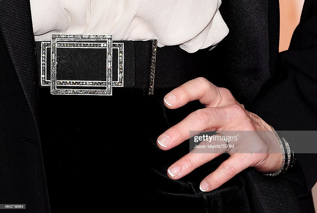 fashion detail of Meryl Streep at the 87th Annual Academy Awards at Hollywood & Highland Center on February 22, 2015 in Hollywood, California.