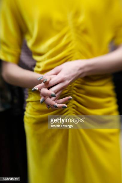 A fashion detail seen backstage ahead of the Antonio Marras show during Milan Fashion Week Fall/Winter 2017/18 on February 25 2017 in Milan Italy