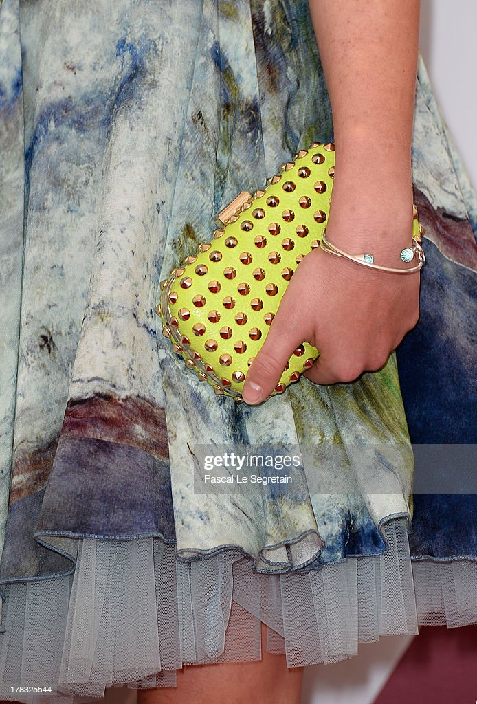 A fashion details are seen as actress Helena Phil attends Wolfschildren Photocall during The 70th Venice International Film Festivalon August 29, 2013 in Venice, Italy.
