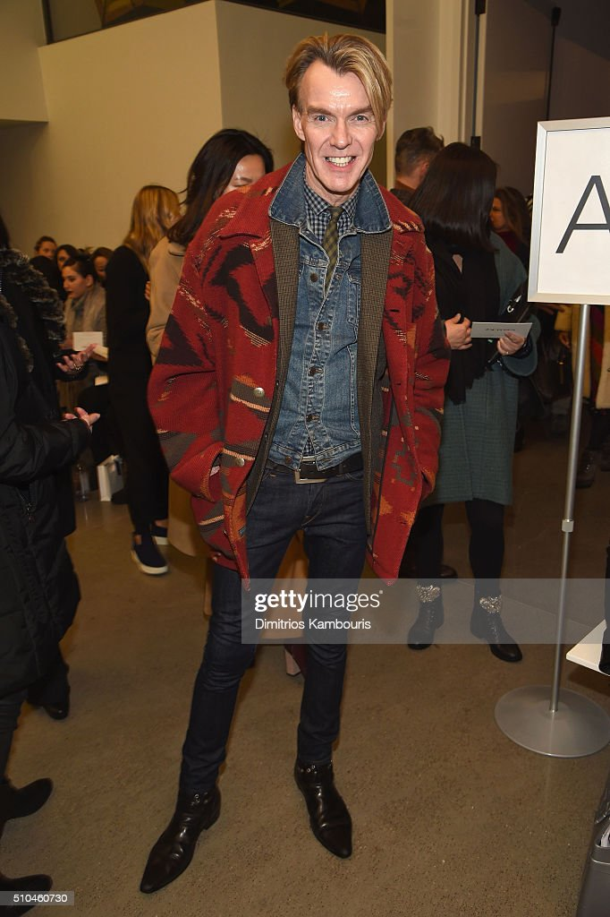 Fashion Director and Senior Vice President of Neiman Marcus, Ken Downing attends the Zac Posen Fall 2016 fashion show during New York Fashion Week at Spring Studios on February 15, 2016 in New York City.