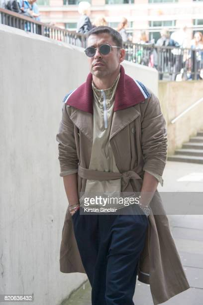Fashion Director at WWD Alex Badia on day 1 of London Collections Men on June 9 2017 in Paris France