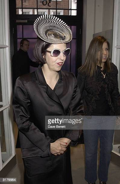 """Fashion director Isabella Blow attends the launch party for """"Stella McCartney London"""" clothes store, on May 15th 2003 in London."""