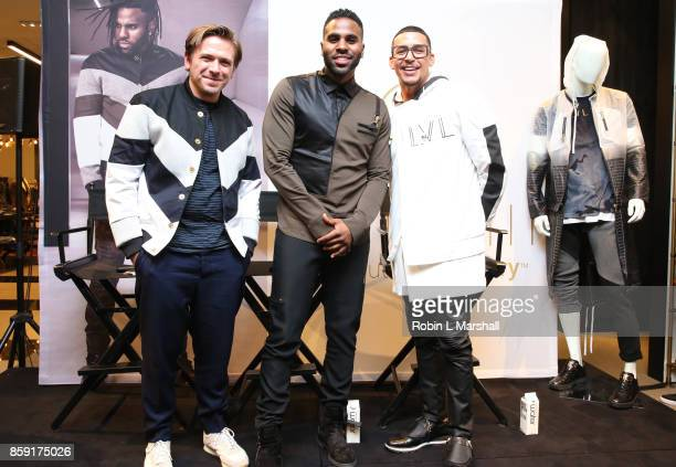 Fashion Director Justin Berkowitz Pop Star Jason Derulo and CEO Antonio Brown attend the Launch of LVL XIII Men's Luxury Wear at Bloomingdale's...