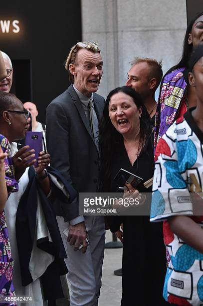 Fashion director of Neiman Marcus Ken Downing and publicist Kelly Cutrone seen around Spring 2016 New York Fashion Week The Shows Day 7 on September...