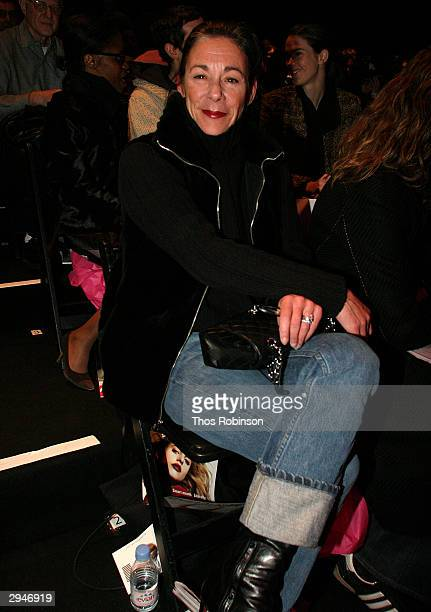 Fashion DirectorWomens Ready Wear Bloomingdales Stephanie Solomon poses during Olympus Fashion Week at Bryant Park February 8 2004 in New York City