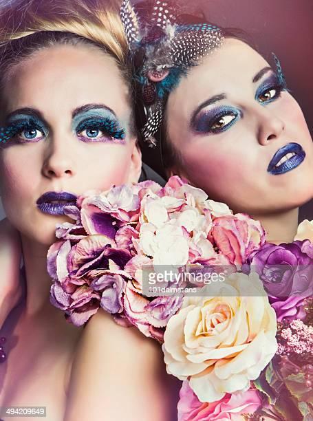 Fashion dolls with flowers