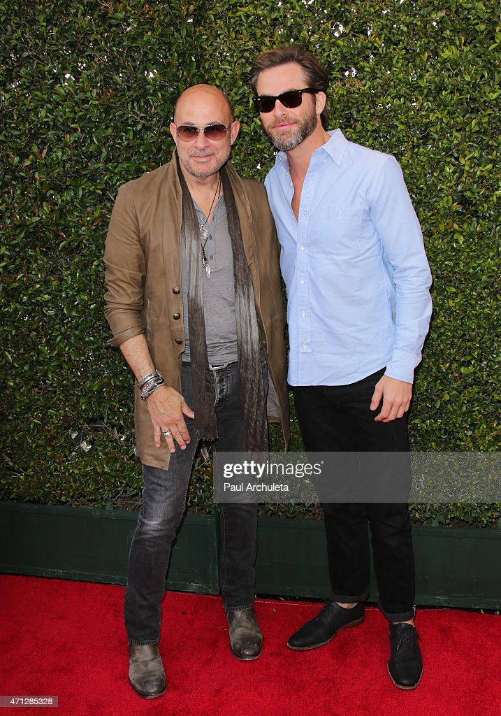 Fashion Dsigner John Varvatos and actor Chris Pine attend the 12th Annual John Varvatos Stuart House Benefit at John Varvatos on April 26, 2015 in Los Angeles, California.
