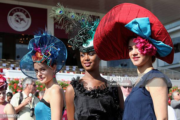 Fashion during the 90th edition of the Qatar Arc de Triomphe prize at the Longchamp racecourse on October 2 2011 in Paris France