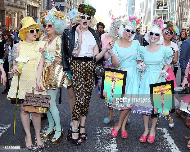 Fashion during the Easter Parade as seen on Easter Sunday on April 20 2014 in New York City