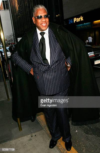 Fashion editor Andre Leon Talley arrives at The Martha Graham Dance Company opening night gala at New York City Center April 6 2005 in New York City
