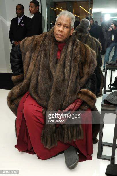 Fashion editor Andre Leon Talley attends the Ralph Rucci fashion show during MercedesBenz Fashion Week Fall 2014 on February 9 2014 in New York City