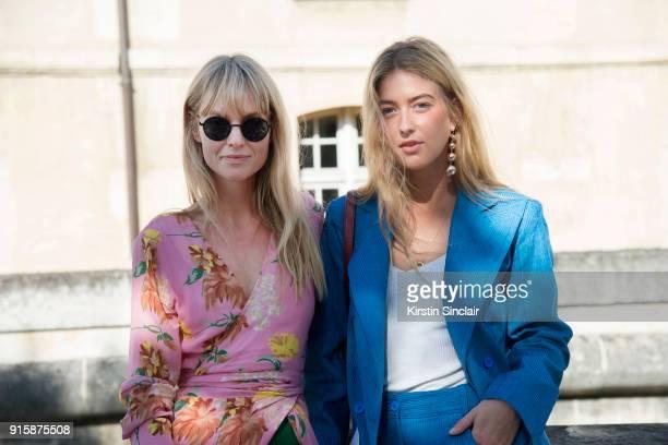 Fashion Editor at Costume Magazine Jeanette Friis Madsenwearing a Ganni dress and Orgreen sunglasses with Fashion stylist at Eurowoman Magazine...
