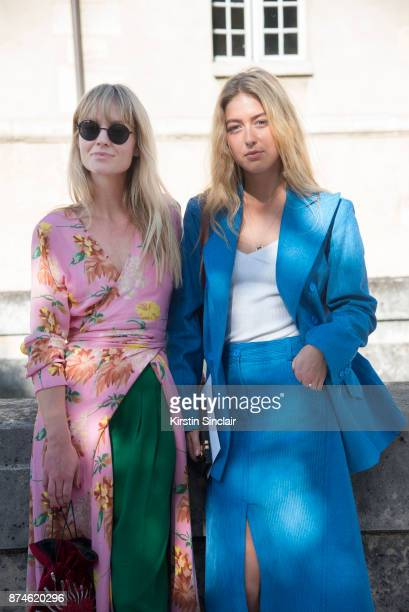 Fashion Editor at Costume Magazine Jeanette Friis Madsenwears a Ganni dress HM trousers Orgreen sunglasses and Les Petits Joueurs bag with Fashion...