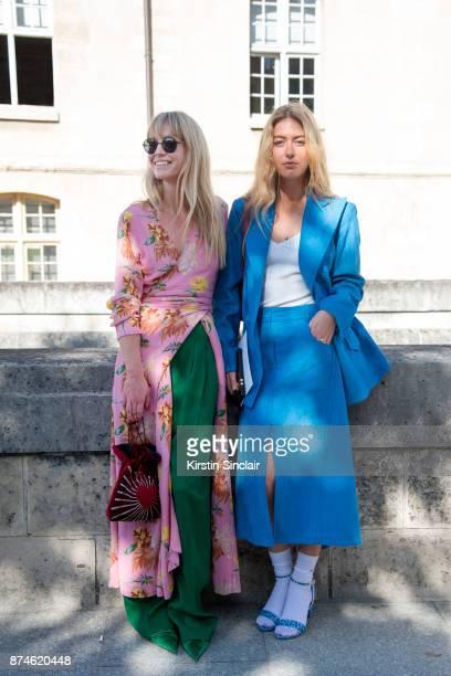 Fashion Editor at Costume Magazine Jeanette Friis Madsenwears a Ganni dress HM trousers Balenciaga shoes Orgreen sunglasses and Les Petits Joueurs...