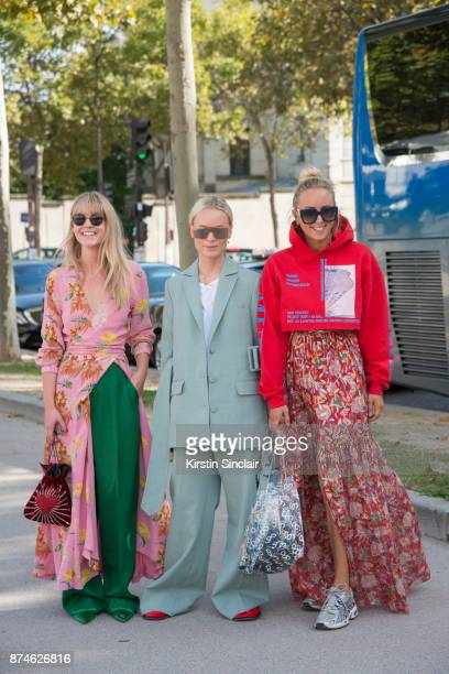 Fashion Editor at Costume Magazine Jeanette Friis Madsen wears a Ganni dress HM trousers Balenciaga shoes Orgreen sunglasses and Les Petits Joueurs...