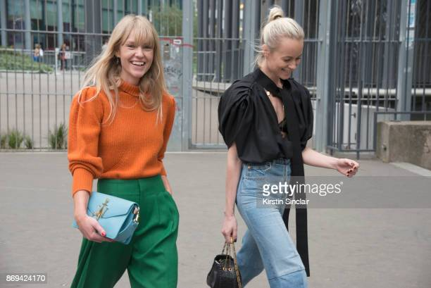 Fashion Editor at Costume Magazine Jeanette Friis Madsenwears a JW Anderson bag Frame sweater HM trousers with Fashion Director at Costume Magazine...