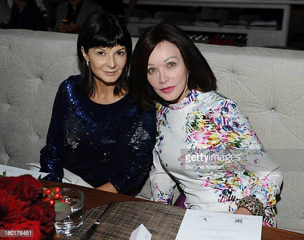 Fashion editor Bernadette Morra and Barbara Amiel at the Grey Goose vodka and Hudson's Bay dinner for The Disappearance of Eleanor Rigby at Chase on...