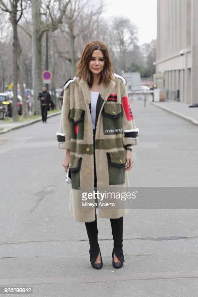 Fashion editor Christine Centenera seen at the Miu Miu fashion show during Paris Fashion Week Womenswear Fall/Winter 2018/2019 on March 6 2018 in...