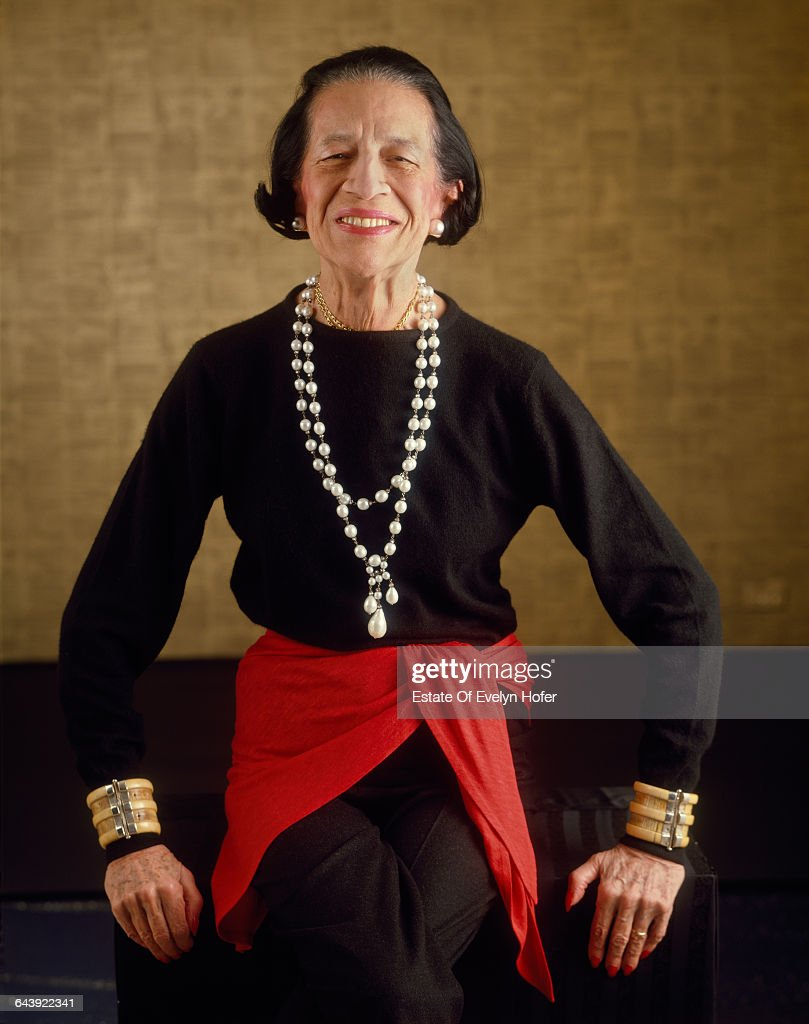 Fashion editor Diana Vreeland (1903 - 1989), New York, 1981 .
