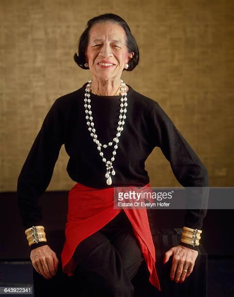 Fashion editor Diana Vreeland New York 1981