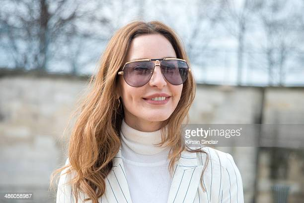 76333c51d25 Fashion Editor Ece Sukan wears an Ipekyol suit and Cazal sunglasses on day  5 of Paris