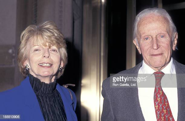 Fashion editor Grace Mirabella and husband Dr William Cahan attend the Special Preview of the New Restaurant Le Cirque 2000 on April 24 1997 in New...